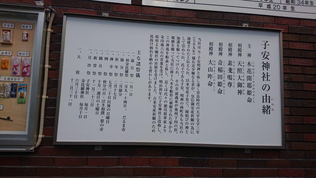 子安神社の由来