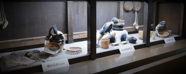 塩硝の製造工程を人形でわかりやすく展示