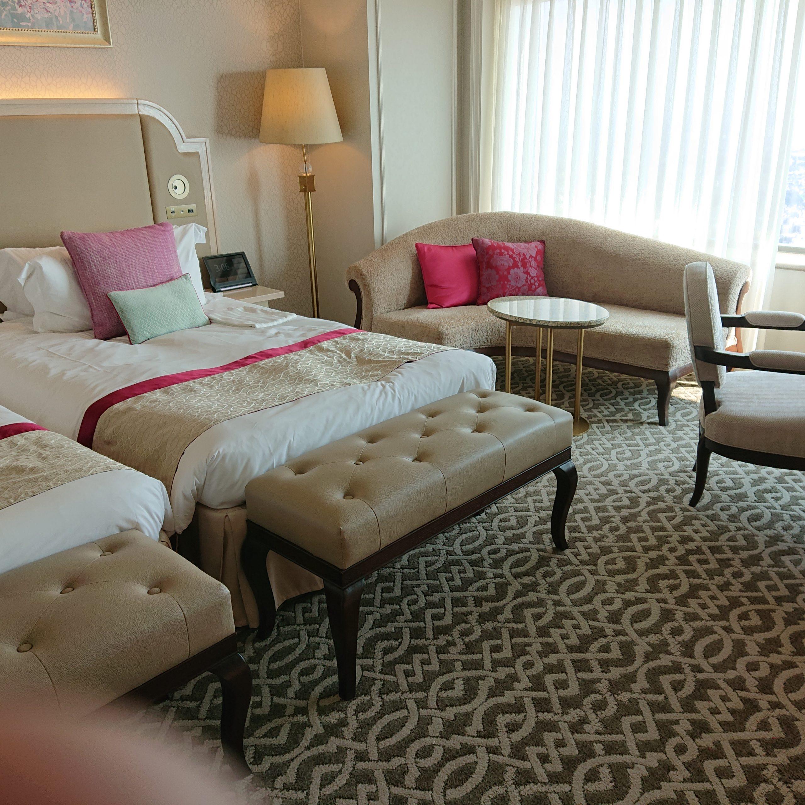 眺望の良い67階の客室